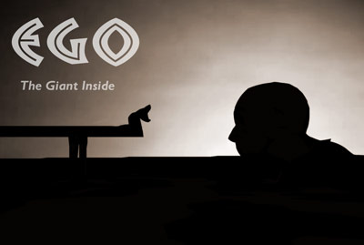 A metaphor about human ego, the giant inside